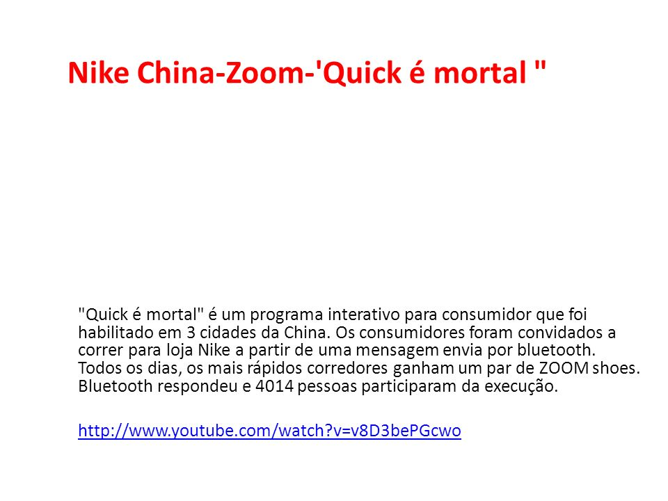 Nike China-Zoom- Quick é mortal