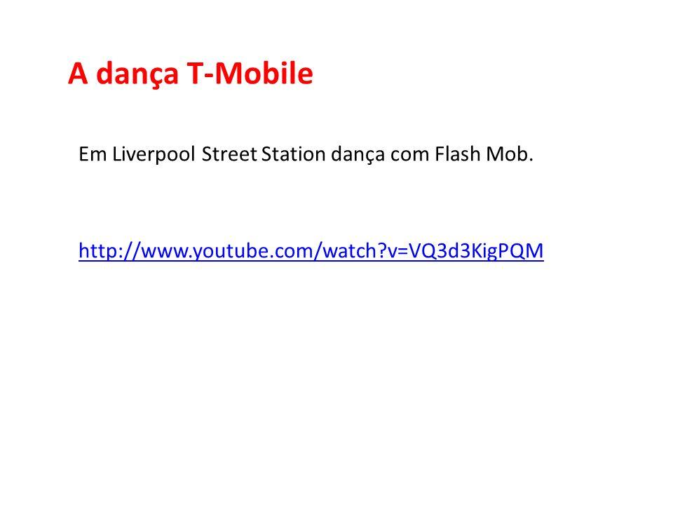A dança T-Mobile Em Liverpool Street Station dança com Flash Mob.