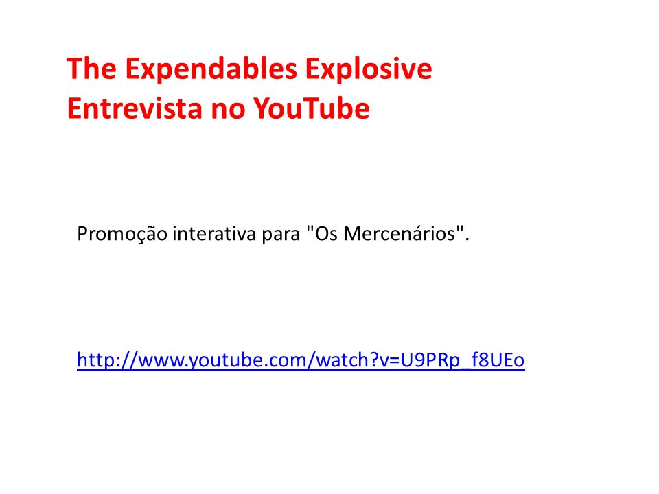 The Expendables Explosive Entrevista no YouTube