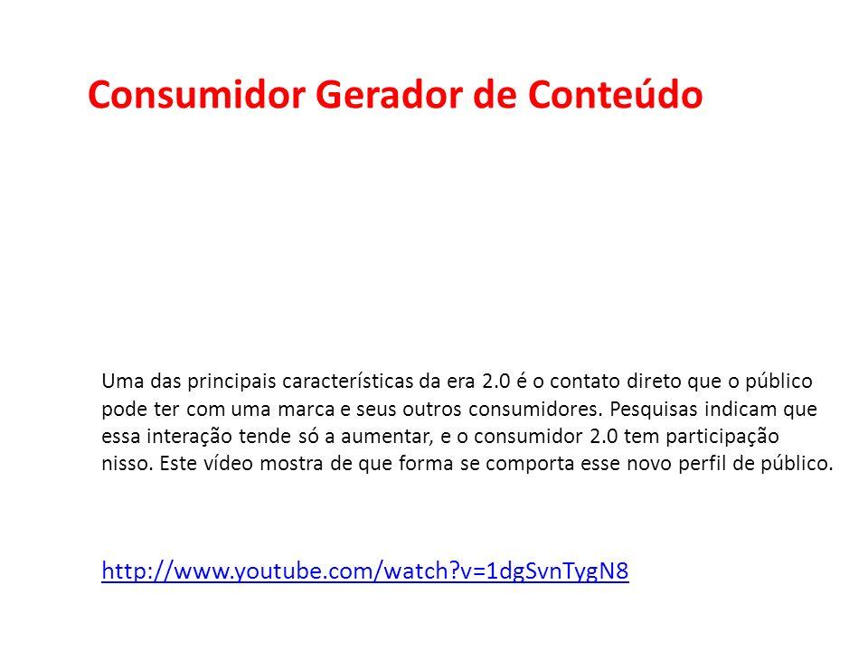 Consumidor Gerador de Conteúdo