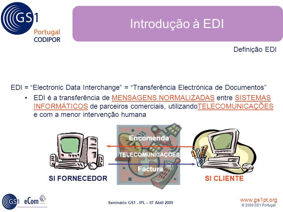 Introdução à EDI Definição EDI