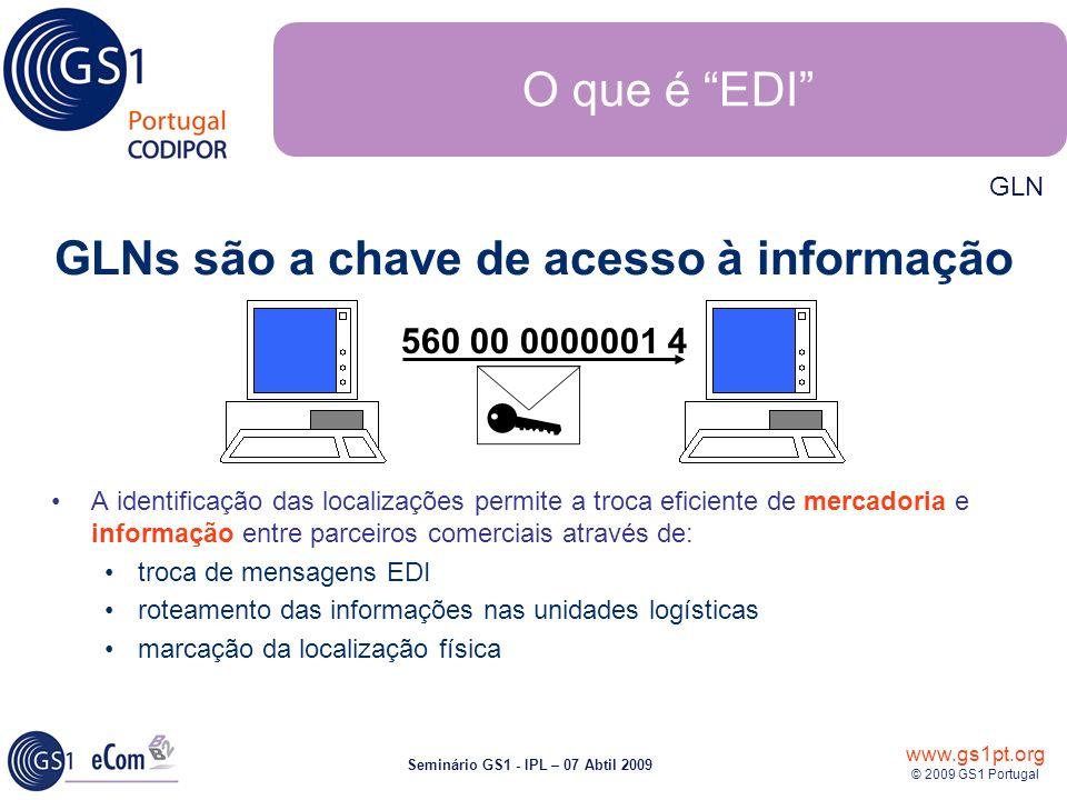 GLNs são a chave de acesso à informação