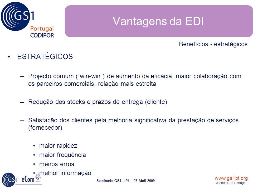Vantagens da EDI ESTRATÉGICOS Benefícios - estratégicos