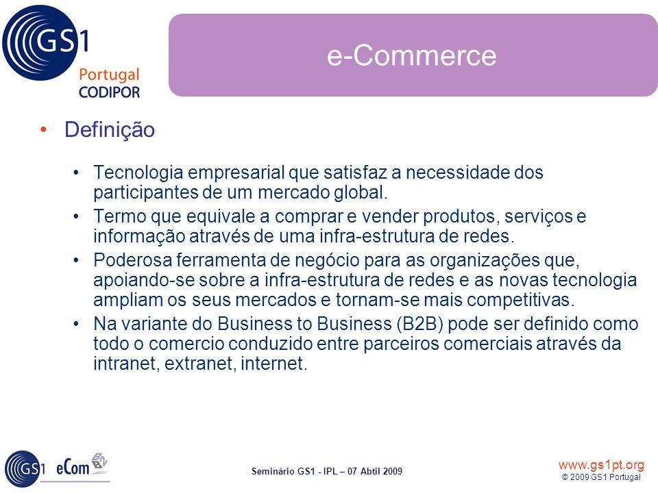 e-Commerce Definição. Tecnologia empresarial que satisfaz a necessidade dos participantes de um mercado global.