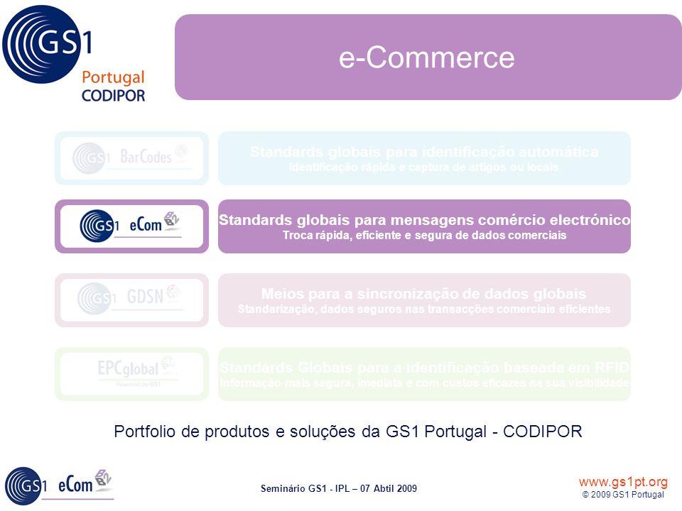 e-Commerce Portfolio de produtos e soluções da GS1 Portugal - CODIPOR