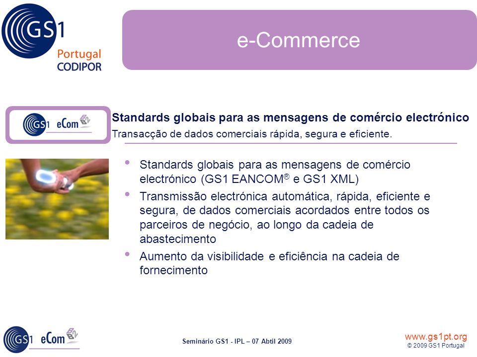 e-Commerce Standards globais para as mensagens de comércio electrónico