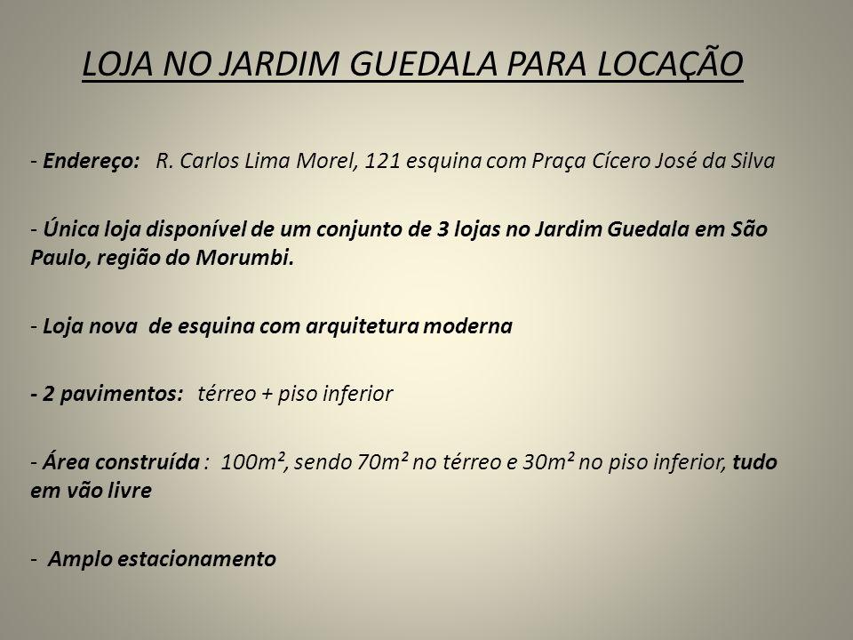 LOJA NO JARDIM GUEDALA PARA LOCAÇÃO