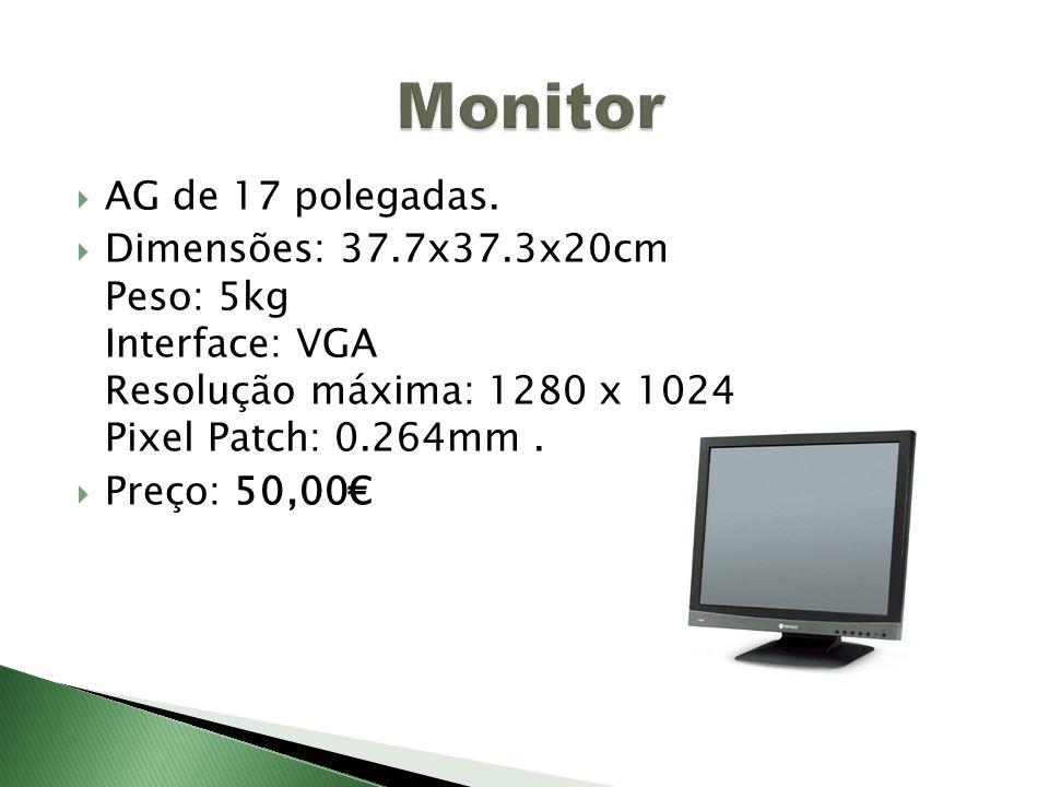 Monitor AG de 17 polegadas.