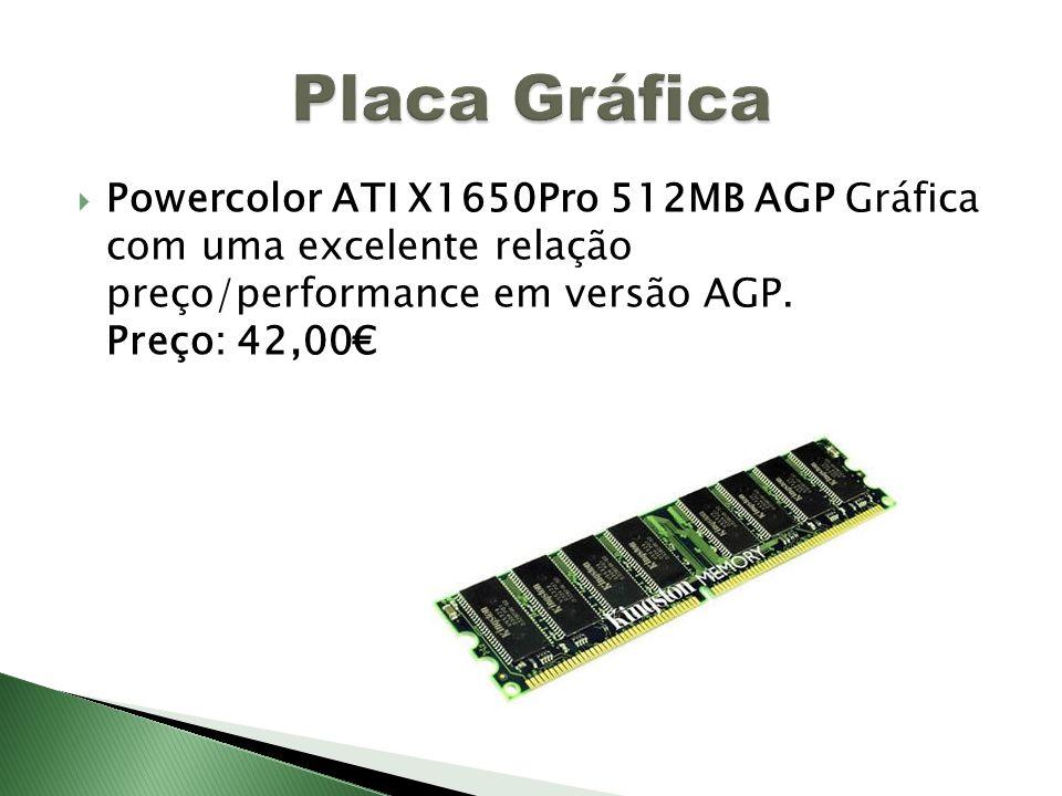 Placa Gráfica Powercolor ATI X1650Pro 512MB AGP Gráfica com uma excelente relação preço/performance em versão AGP.