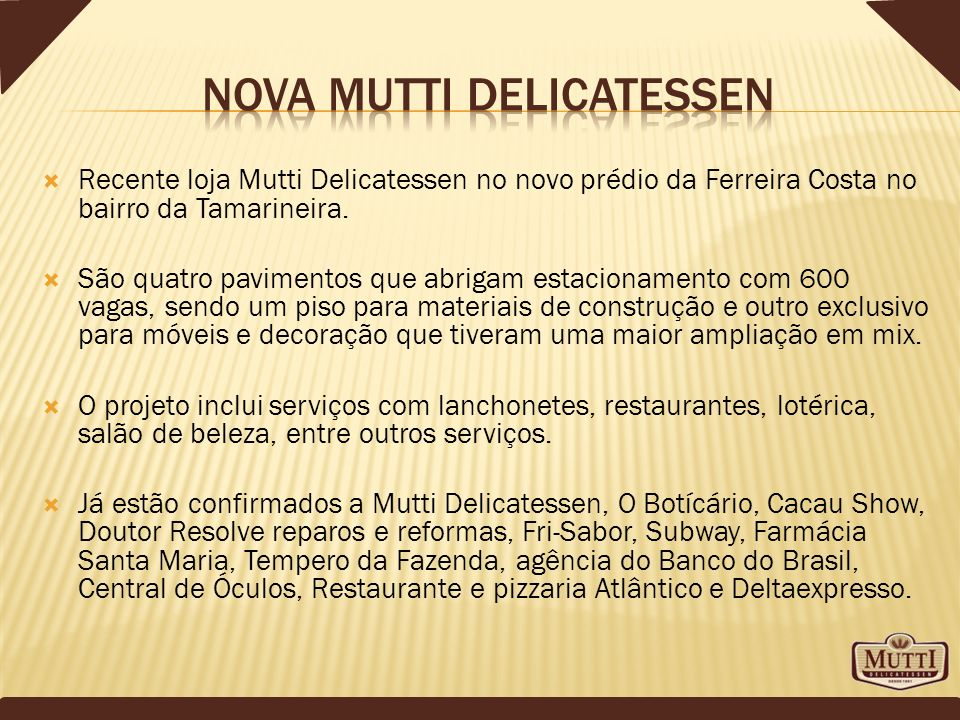 Nova Mutti Delicatessen
