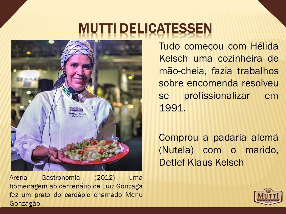 Mutti delicatessen Tudo começou com Hélida Kelsch uma cozinheira de mão-cheia, fazia trabalhos sobre encomenda resolveu se profissionalizar em 1991.