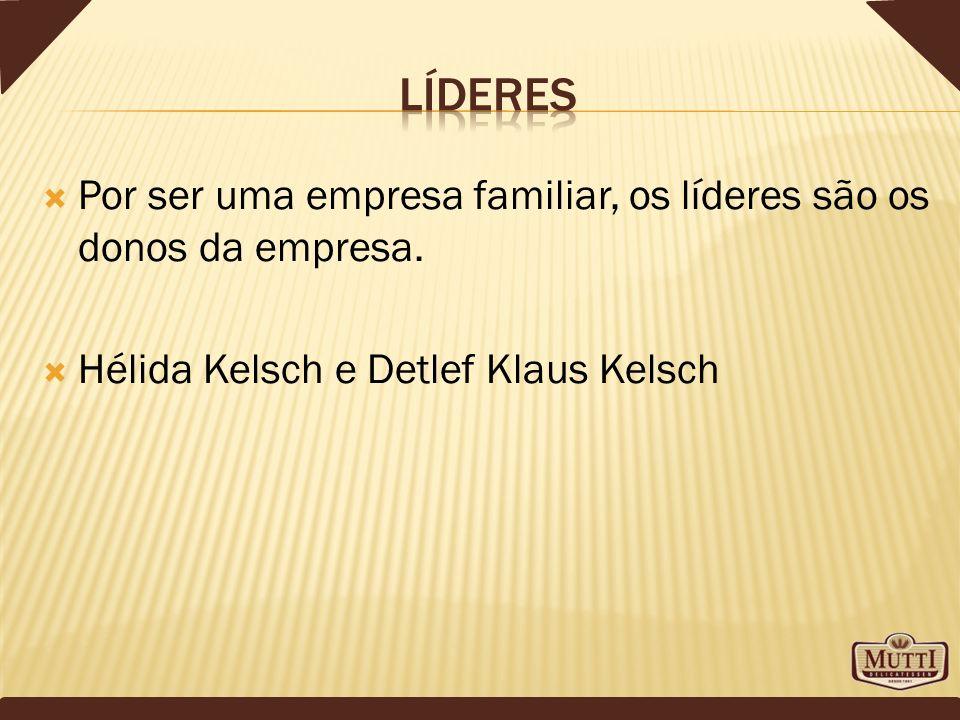Líderes Por ser uma empresa familiar, os líderes são os donos da empresa.