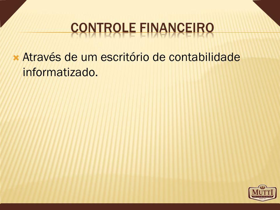 Controle financeiro Através de um escritório de contabilidade informatizado.