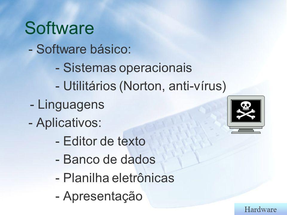 Software - Software básico: - Sistemas operacionais