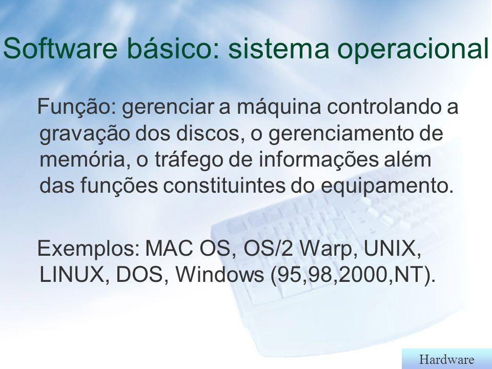 Software básico: sistema operacional