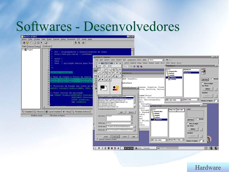 Softwares - Desenvolvedores