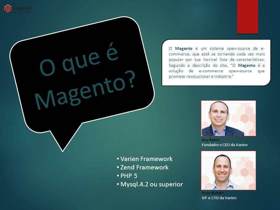 O que é Magento Varien Framework Zend Framework PHP 5