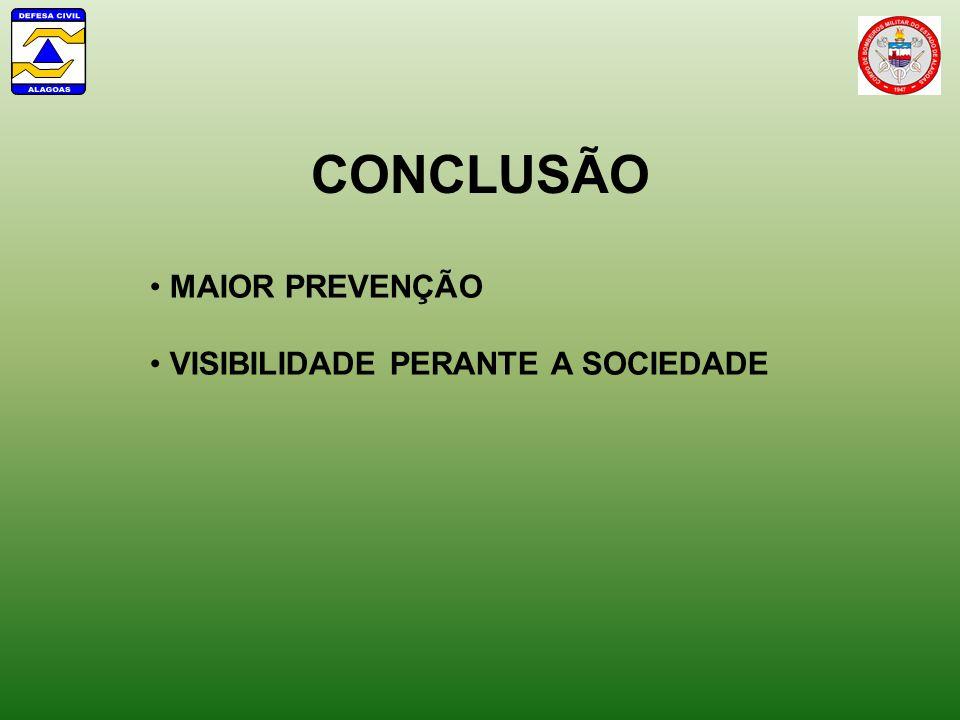 CONCLUSÃO MAIOR PREVENÇÃO VISIBILIDADE PERANTE A SOCIEDADE