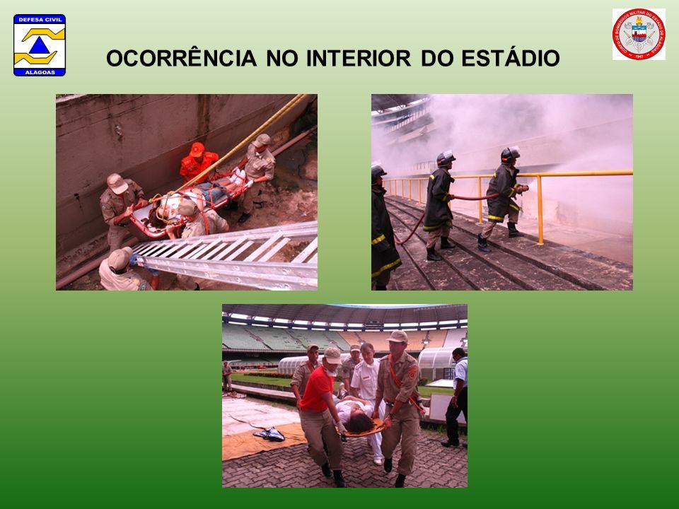 OCORRÊNCIA NO INTERIOR DO ESTÁDIO