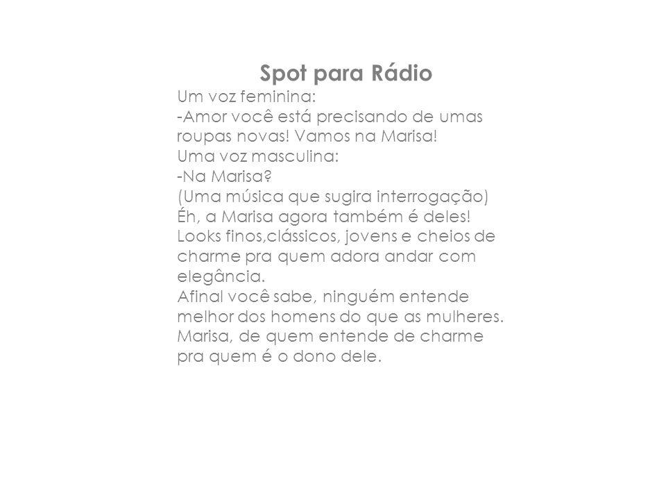 Spot para Rádio Um voz feminina:
