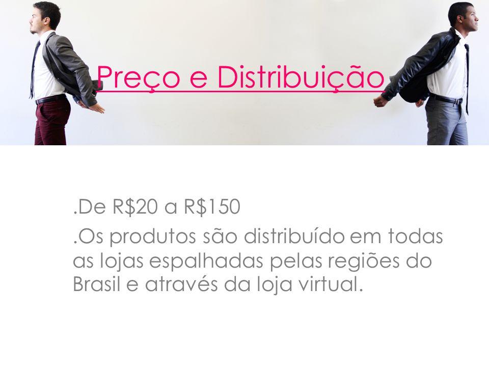 Preço e Distribuição .De R$20 a R$150
