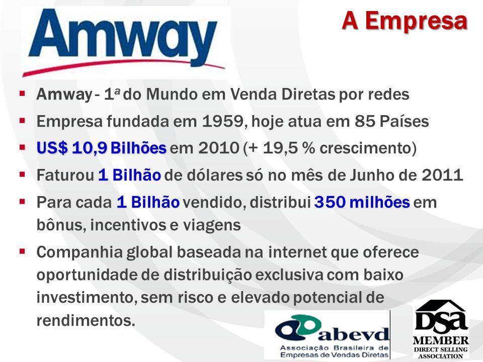 A Empresa Amway - 1a do Mundo em Venda Diretas por redes