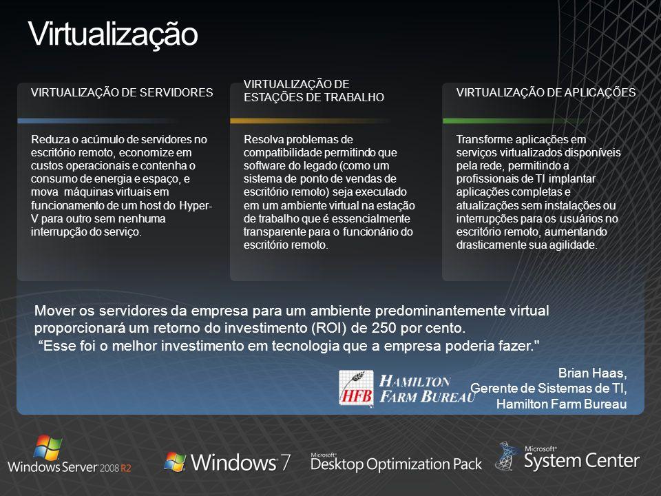 Virtualização VIRTUALIZAÇÃO DE ESTAÇÕES DE TRABALHO. VIRTUALIZAÇÃO DE SERVIDORES. VIRTUALIZAÇÃO DE APLICAÇÕES.