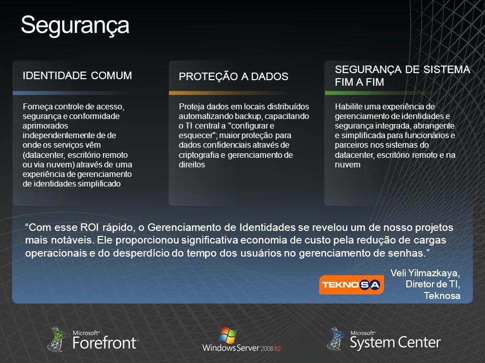 Segurança SEGURANÇA DE SISTEMA FIM A FIM IDENTIDADE COMUM