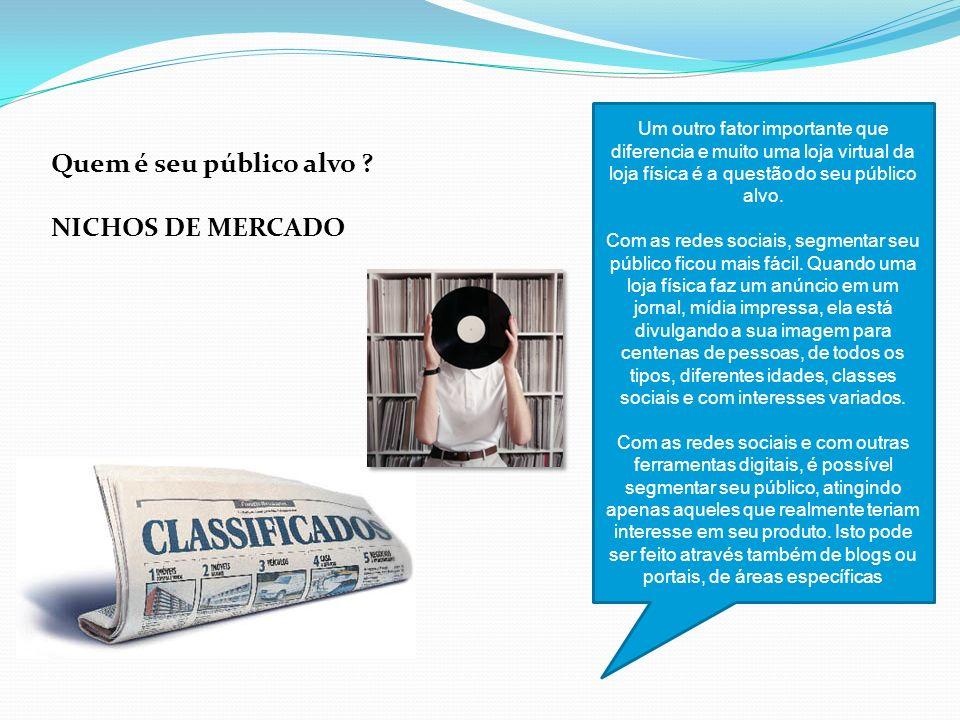 Quem é seu público alvo NICHOS DE MERCADO