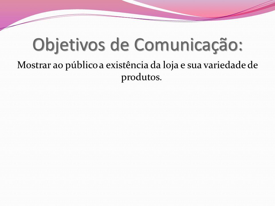 Objetivos de Comunicação: