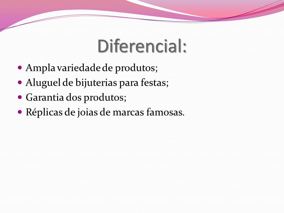 Diferencial: Ampla variedade de produtos;