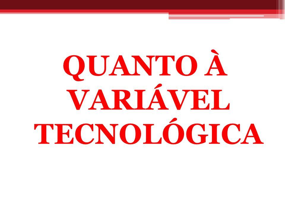 QUANTO À VARIÁVEL TECNOLÓGICA