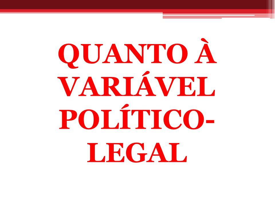 QUANTO À VARIÁVEL POLÍTICO-LEGAL
