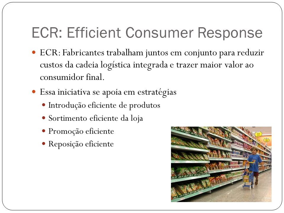 ECR: Efficient Consumer Response