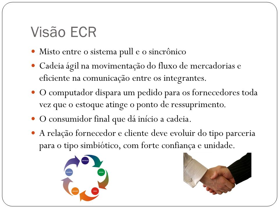 Visão ECR Misto entre o sistema pull e o sincrônico