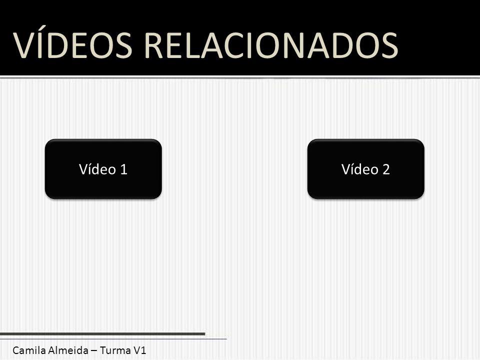VÍDEOS RELACIONADOS Vídeo 1 Vídeo 2 Camila Almeida – Turma V1