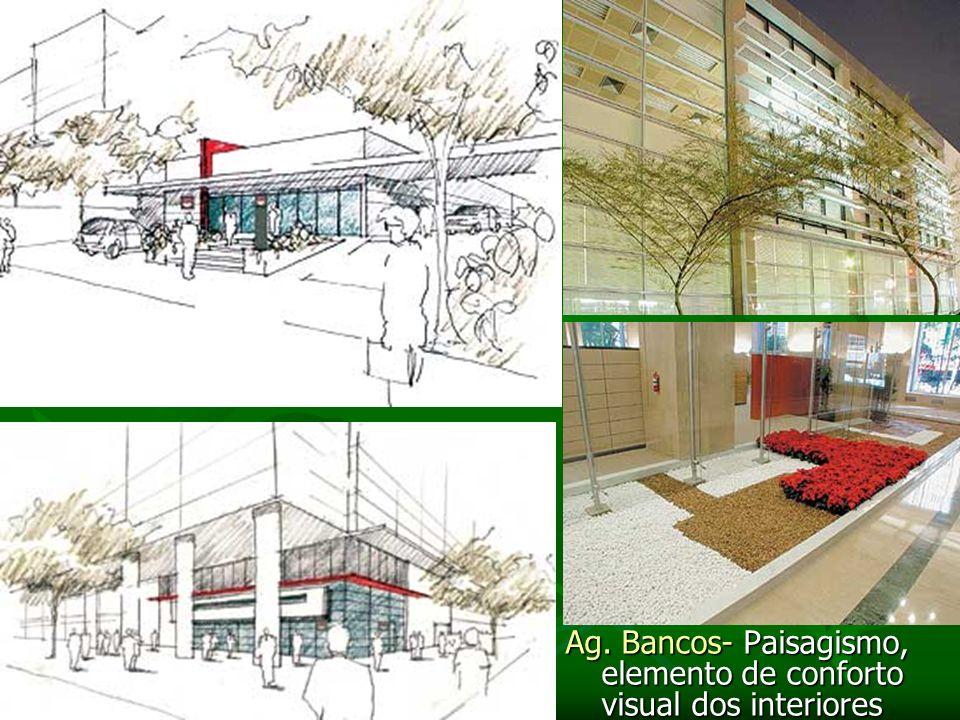 Ag. Bancos- Paisagismo, elemento de conforto visual dos interiores