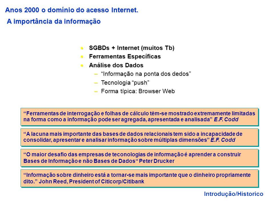 Anos 2000 o domínio do acesso Internet. A importância da informação