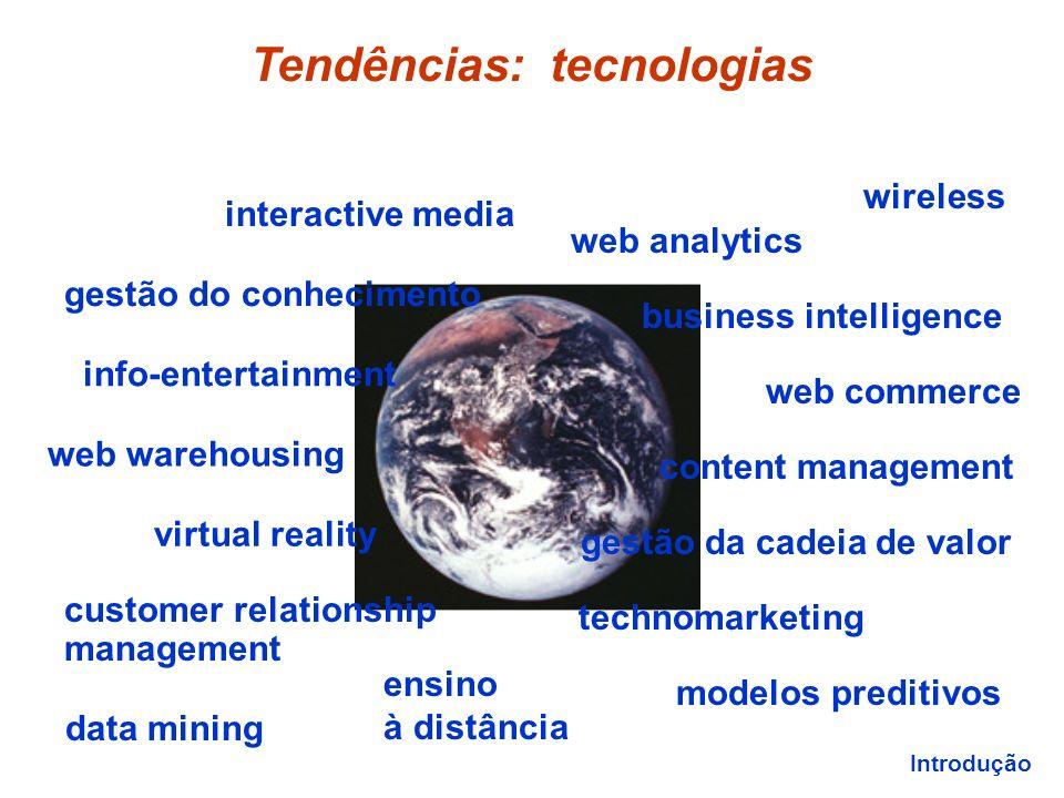 Tendências: tecnologias