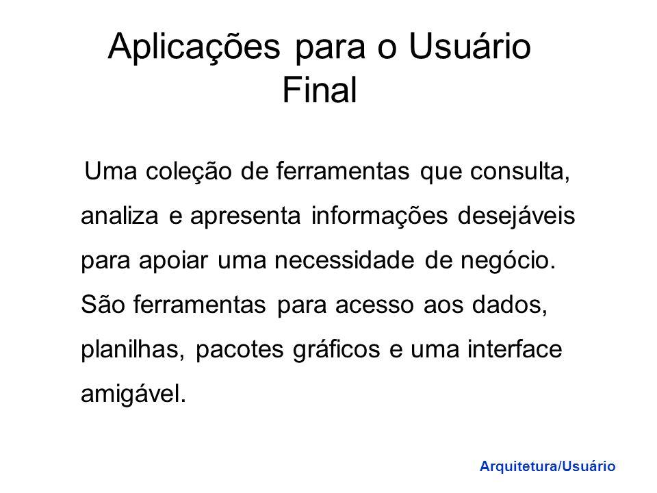Aplicações para o Usuário Final