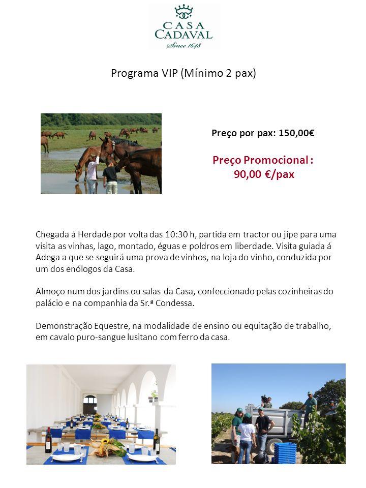 Programa VIP (Mínimo 2 pax)