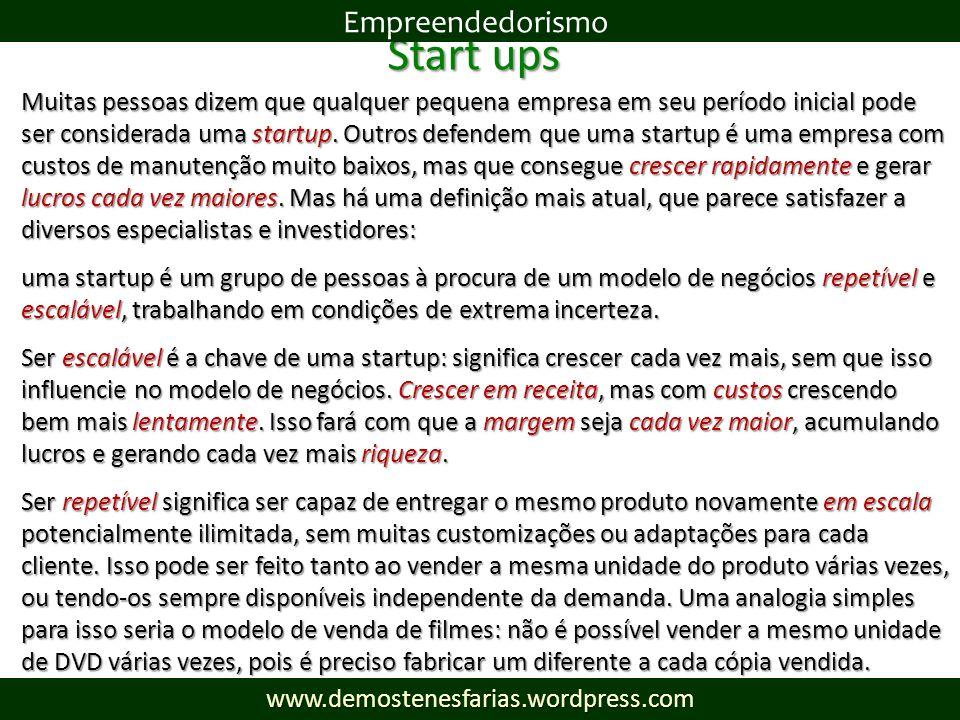 Start ups Empreendedorismo