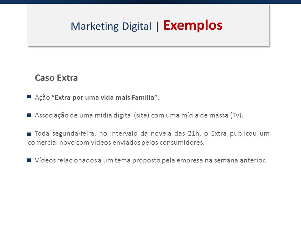Marketing Digital | Exemplos