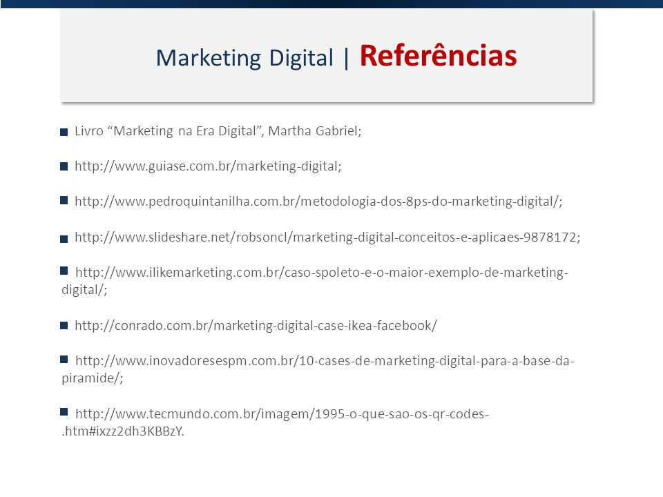 Marketing Digital | Referências