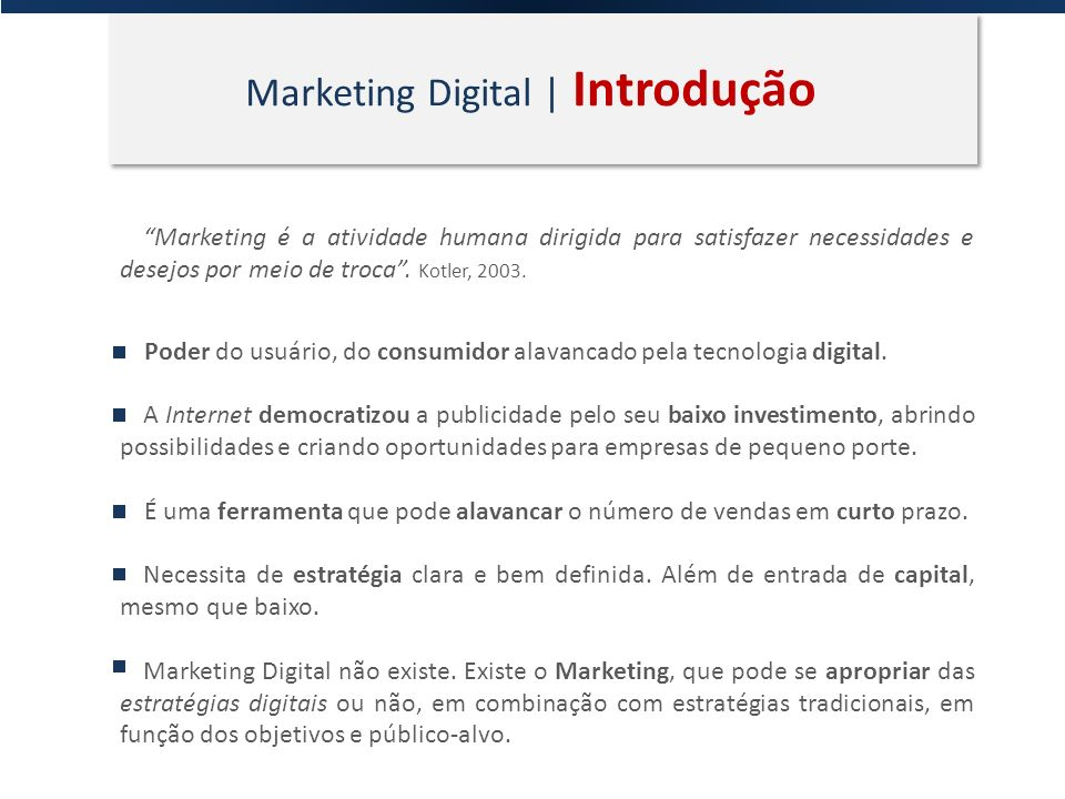 Marketing Digital | Introdução