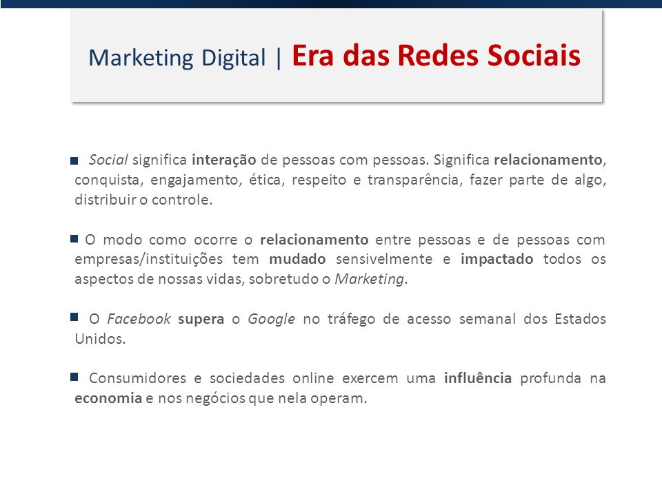 Marketing Digital | Era das Redes Sociais