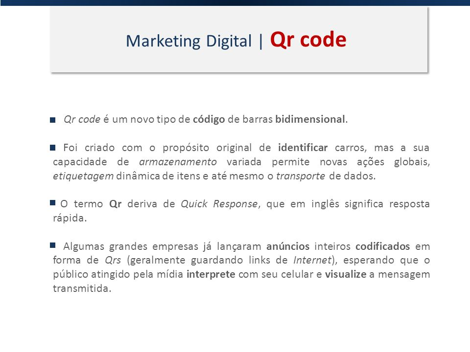 Marketing Digital | Qr code