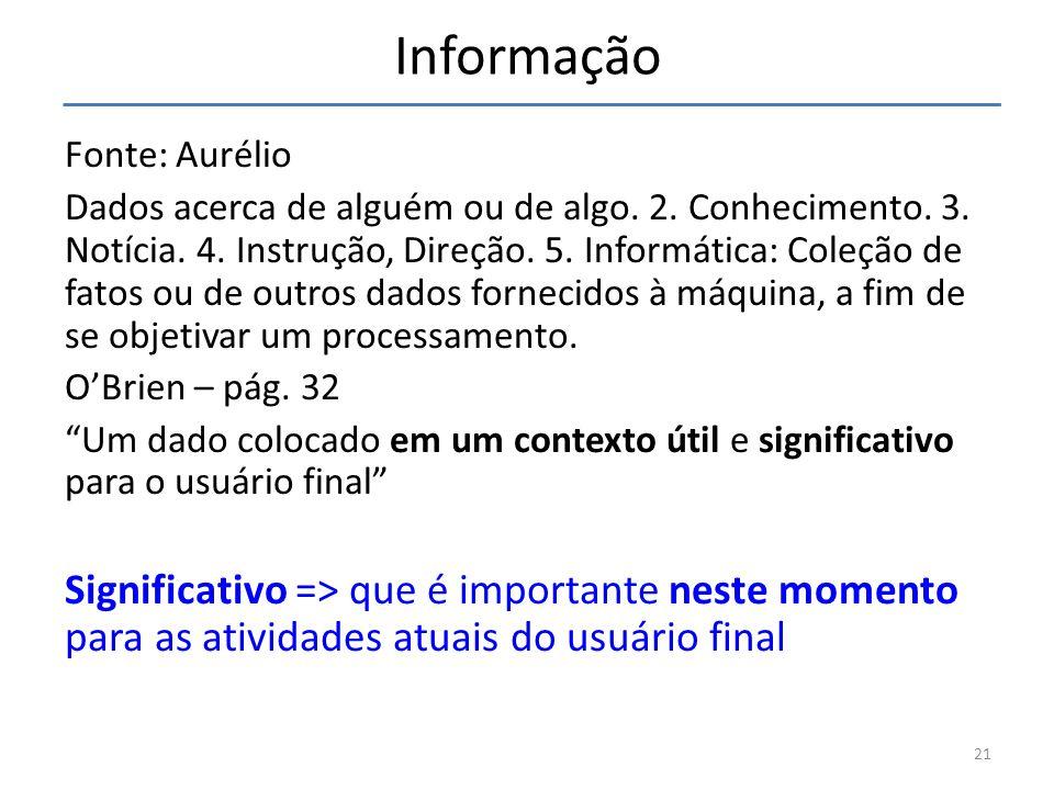 Informação Fonte: Aurélio.