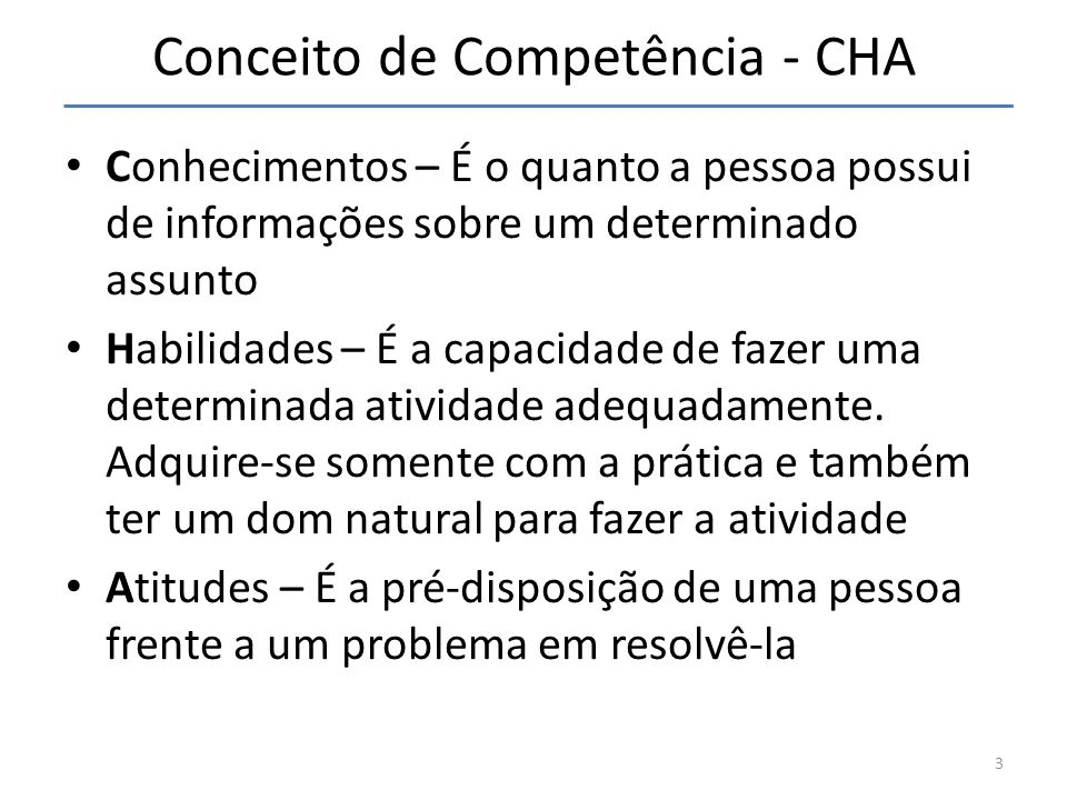 Conceito de Competência - CHA