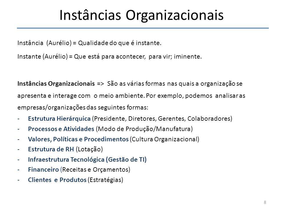 Instâncias Organizacionais